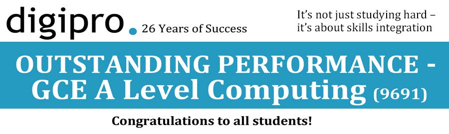 CIE A Level Computing Results 2015 - A stunning group performance once again by Digipro students!