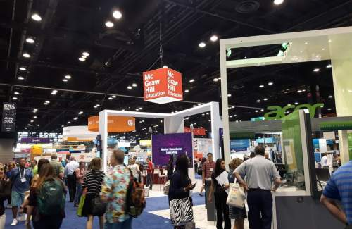 Expo time at #ISTE18. Feels like #edtech Disneyland!