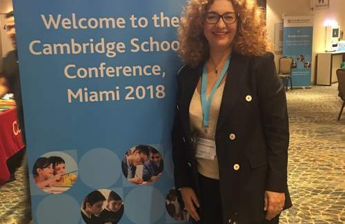 FUNecole® founder and CEO Mrs Chryso Christodoulou at the Cambridge Schools Conference, Miami 2018