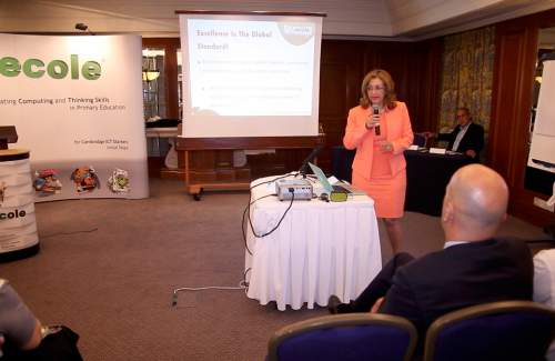 Technology and modern education at Hilton Nicosia  with Mrs Chryso Christodoulou  ( founder of FUNecole® Research Institute and the co-founder of Digipro® Computer Consultants)