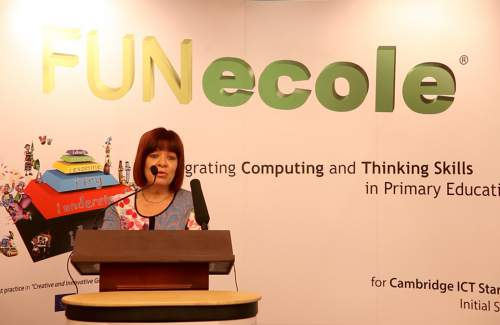 Technology and modern education at Hilton Nicosia  with Mrs Laura Hrakleous (  president of Private Preschools Committee )