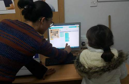 Our FUNecole students in Larnaca, writing code and having #FUN completing #HourOfCode activities. Amazing effort by team G. E. English Centre. Keep #coding