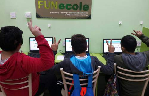 Minecraft #HourOfCode challenges too easy for our @FUNecole students at #CP. Excellent work!